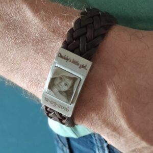 gevlochten armband met foto