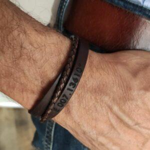 sportieve heren armband met gravering
