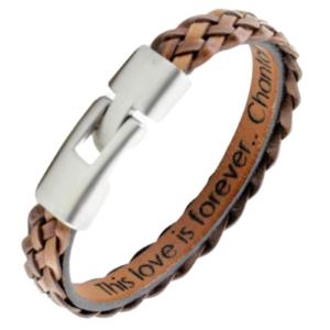 subtiele armband met gegraveerde band