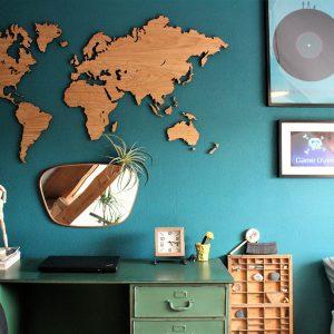 wereldkaart eiken