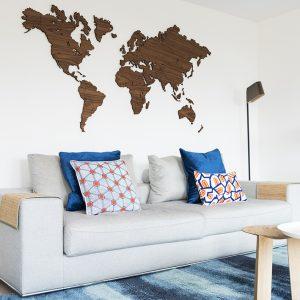 wereldkaart noten