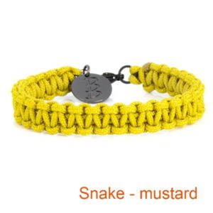 Gevlochten armband Snake