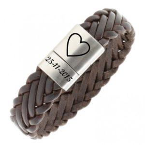 Gevlochten gepersonaliseerde armband