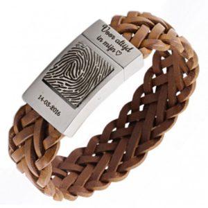 Gevlochten vingerafdruk armband