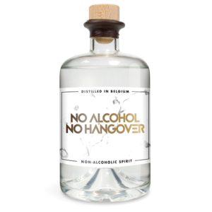 alcoholvrije gin met een eigen tekst op het etiket