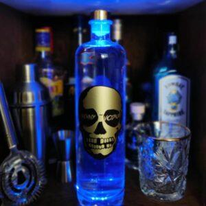 gepersonliseerde wodka gouden skull