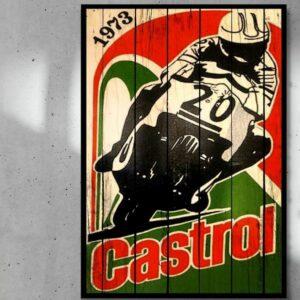 print op hout Castrol Motor