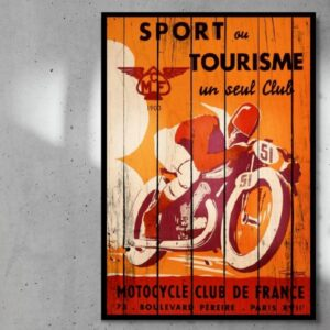 print op hout motocycle club de france