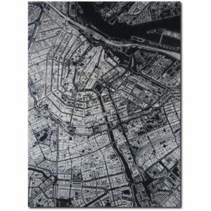 aluminium Citymap Amsterdam