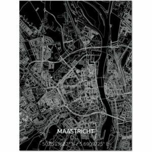 aluminium citymap maastricht / mestreech