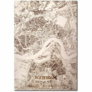 houten citymap rotterdam