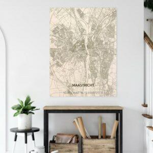 houten citymap maastricht mestreech